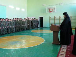 В Орловский казачий кадетский корпус приехал Владыка Корнилий